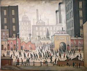 Coming From The Mill - L.S Lowry