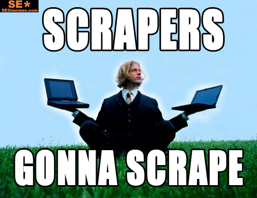 Been scraping? You will get Googlewhacked