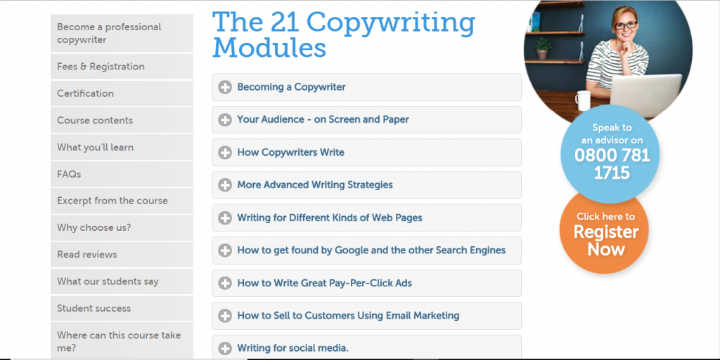 Blackford Inst for Copywriting - best copywriter training courses