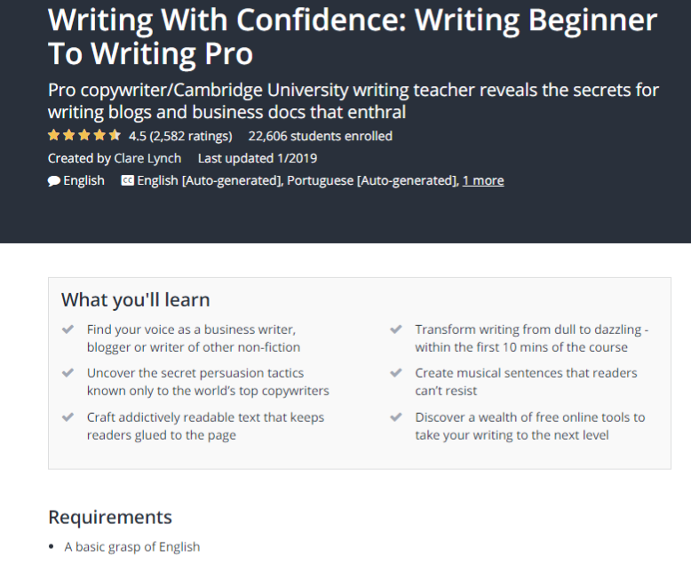 The best blog writing courses online - Copify blog 3