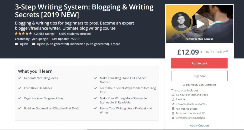 Blog writing training courses - Copify blog 2