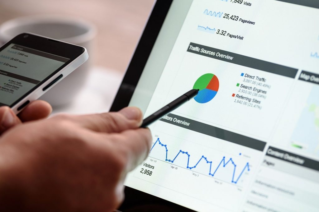 Traffic metrics on a laptop - How does advertising increase brand awareness - Copify blog