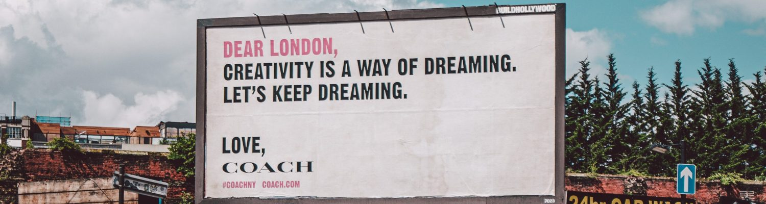 Billboard on a London street - How does advertising increase brand awareness - Copify blog