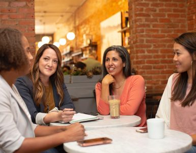 Group of women discussing business
