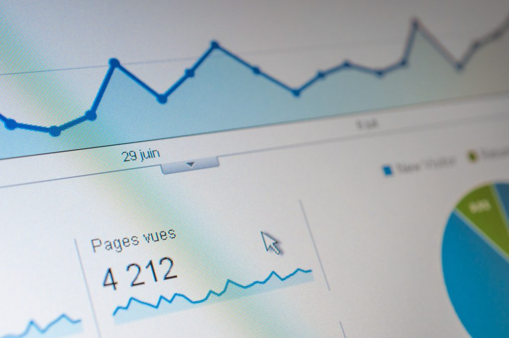 Closeup of stats on a laptop screen - How to create an effective Google SEO content strategy - Copify blog
