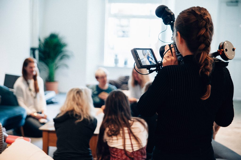 Image of someone filming video content