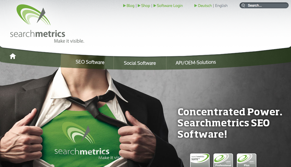 Searchmetrics - One of Patrick's recommended SEO tools